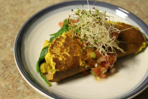 Tortilla con brotes de kale