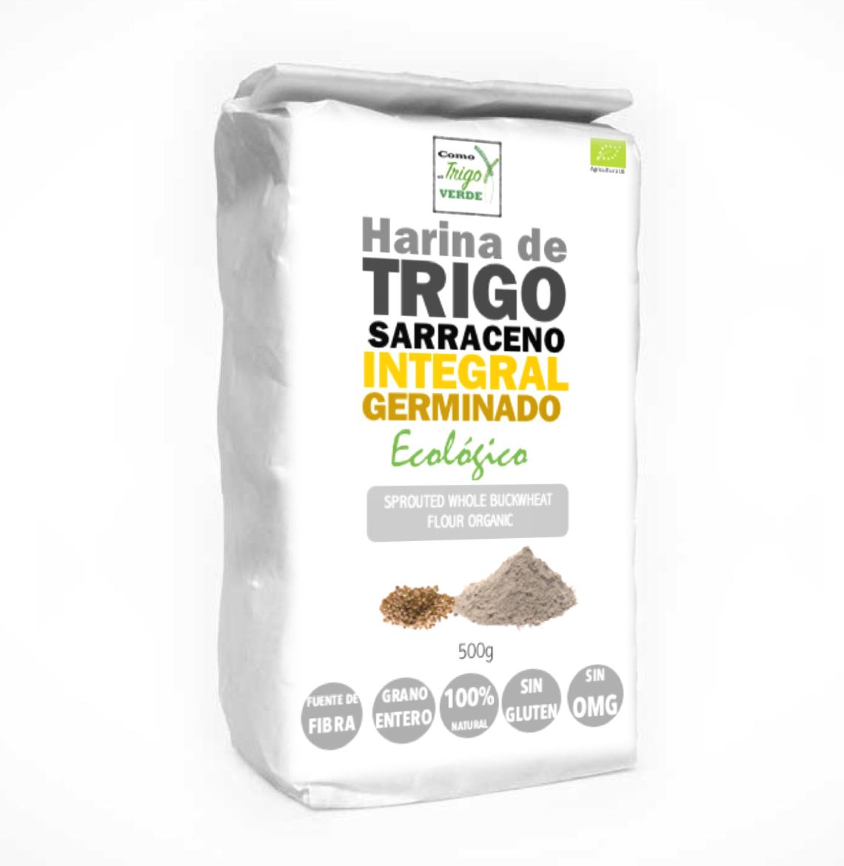 Harina de trigo sarraceno integral germinado ecol gico - Harina integral de trigo ...